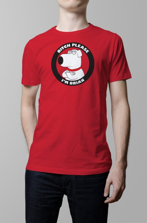 brian griffin family guy spoof tv show t-shirt