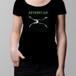 Generation X ladies T-shirt – black