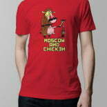 Cow and chicken T-shirt – red