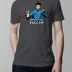 star trek bruce lee enter the vulcan parody t-shirt