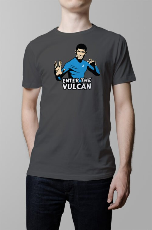 star trek bruce lee enter the vulcan parody t-shirt