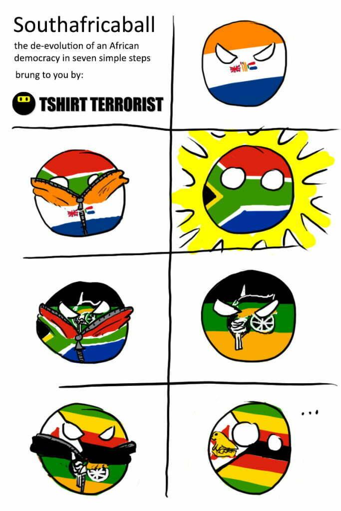 South Africa Ball - polandball meme