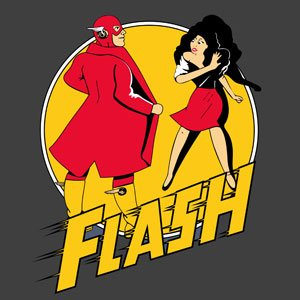 Superhero Comic T-shirt - Flash