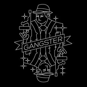 t-shirt playing card geometric gangster