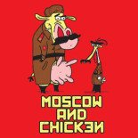moscow and chicken t-shirt red
