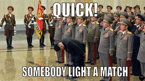 somebody light a match meme blog post - Kim Jon-Un