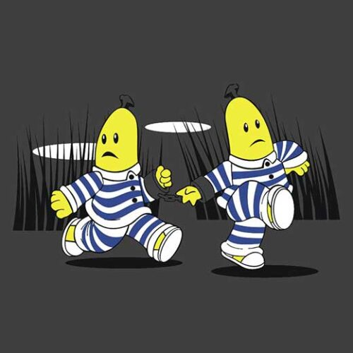bananas in pyjamas children's tv show comic t-shirt
