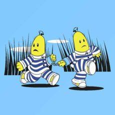 comic t-shirt tv show bananas in pyjamas