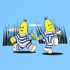 comic t-shirt tv show bananas in pyjamas