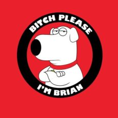 brian griffin family guy parody t-shirt