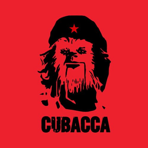 cubacca star wars chewbacca che guevara red t-shirt