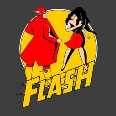 superhero spoof flash flashing t-shirt