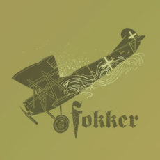funny fokker airplane t-shirt