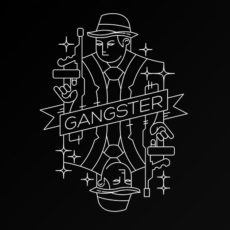 gangster playing card graphic design t-shirt