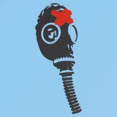 gasmask banksy street urban art image