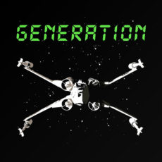 star wars generation x-wing 80's t-shirt