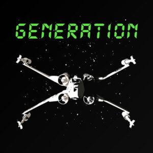 star wars generation x-wing 80's t-shirt