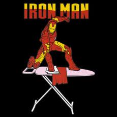 ironman ironing t-shirt