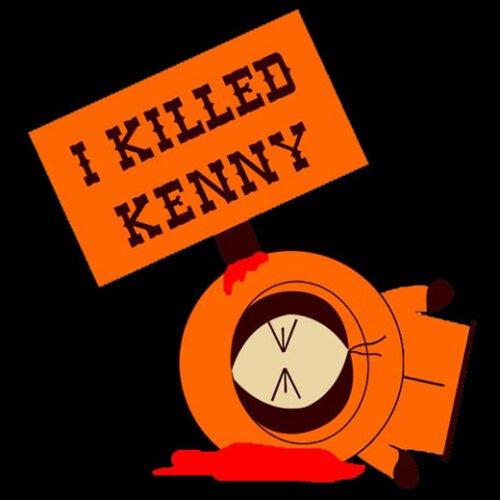 kenny south park black t-shirt
