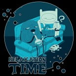 relaxation time adventure time black t-shirt