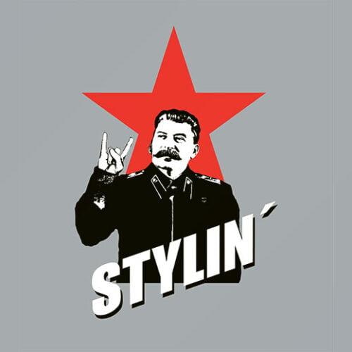 funny joseph stalin stylin' t-shirt
