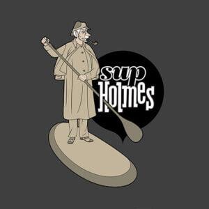 sherlock holmes stand up paddle parody t-shirt