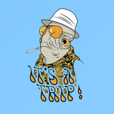 star wars hunter s thomson fear and loathing in las vegas t-shirt