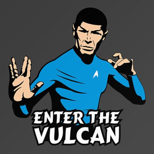 cool star trek mr spock vulcan vs bruce lee t-shirt