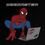 webmaster spiderman black t-shirt