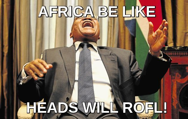 jacob zuma laughing south africa impeachment meme