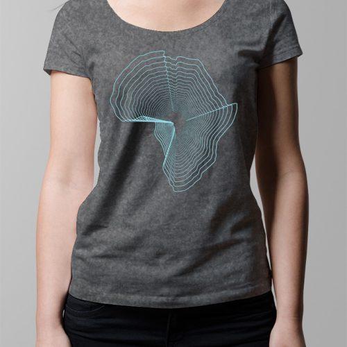 Africa Ladies T-shirt - charcoal melange