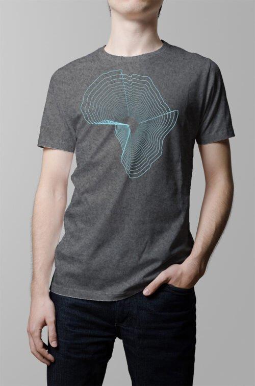 africa pop art designer t-shirt