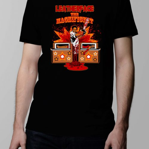 leatherface texas chainsaw massacre horror gore comic t-shirt