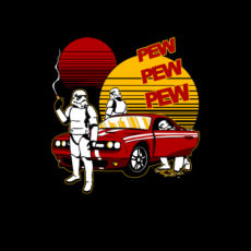 star wars stormtroopers gone in 60 seconds pewpew spoof t-shirt