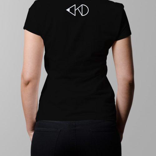 kitchen dutch nape print - ladies black