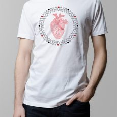 Hearts Illustrated Men's T-shirt - white