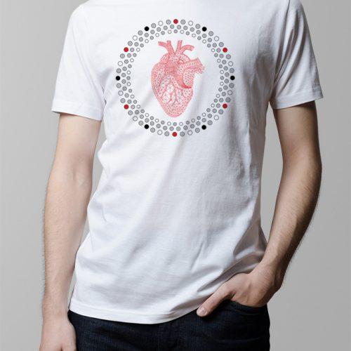 Hearts Illustrated Men's T-shirt - white