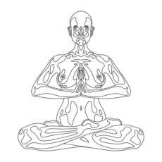yoga meditation white t-shirt design