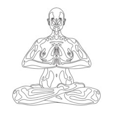 yoga meditation white t-shirt design