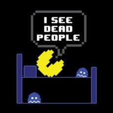 pacman eighties arcade sixth sense mash-up tee