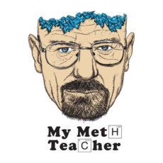 meth teacher breaking bad t-shirt - white