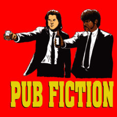 pulp fiction quinton tarantino vincent and jules parody tee