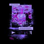 darkling space cyberpunk graphic black t-shirt (back)