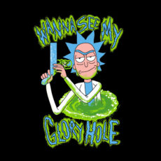 glory hole rick sanchez black t-shirt
