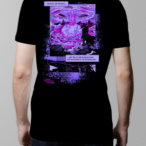Darkling Space Cyberpunk Graphic Men's t-shirt - black (back)