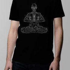 Yoga Meditation Men's T-shirt design - black