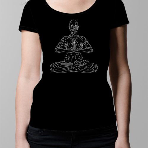 Yoga Meditation Ladies' T-shirt design - black