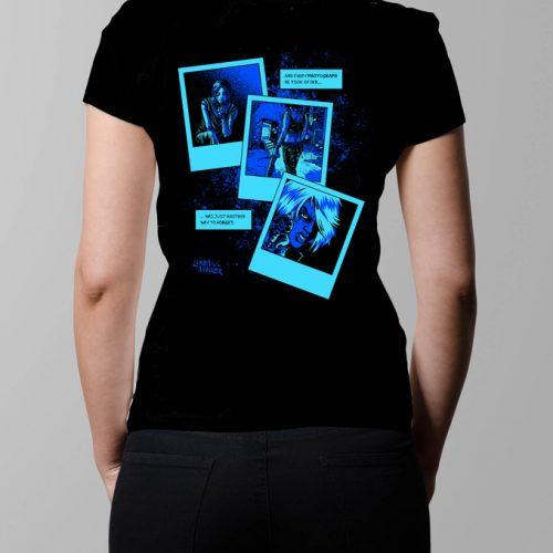 Bloody Kisses Neroverse T-shirt - Ladies' black (back)