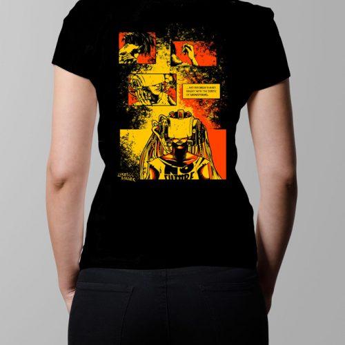 Sawn offs Graphic Novel T-shirt - Ladies' black (back)