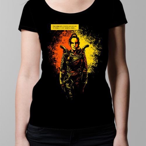 Sawn offs Graphic Novel T-shirt - Ladies' black (front)